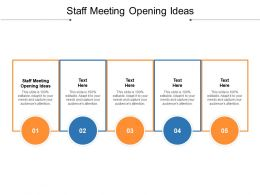 Staff Meeting Opening Ideas Ppt Powerpoint Presentation File Background Cpb