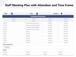 Staff Meeting Plan With Attendees And Time Frame