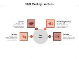 Staff Meeting Practices Ppt Powerpoint Presentation Icon Demonstration Cpb