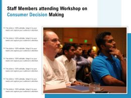Staff Members Attending Workshop On Consumer Decision Making