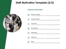 Staff Motivation Template Company Polices Ppt Powerpoint Presentation Pictures Display