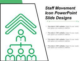 Staff Movement Icon Powerpoint Slide Designs