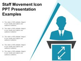 Staff Movement Icon Ppt Presentation Examples