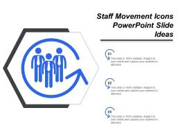 Staff Movement Icons Powerpoint Slide Ideas