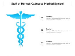 Staff Of Hermes Caduceus Medical Symbol