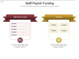 Staff Payroll Funding Ppt Powerpoint Presentation Infographic Template Shapes Cpb