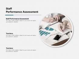 Staff Performance Assessment Ppt Powerpoint Presentation File Show Cpb