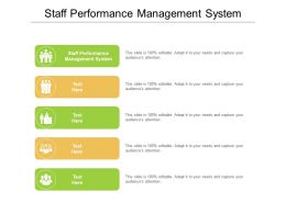 Staff Performance Management System Ppt Powerpoint Presentation File Example Topics Cpb