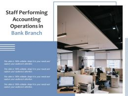 Staff Performing Accounting Operations In Bank Branch