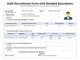 Staff Recruitment Form With Detailed Description
