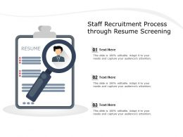 Staff Recruitment Process Through Resume Screening