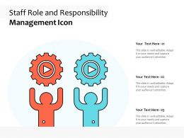 Staff Role And Responsibility Management Icon