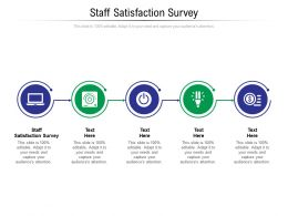 Staff Satisfaction Survey Ppt Powerpoint Presentation Gallery Design Ideas Cpb