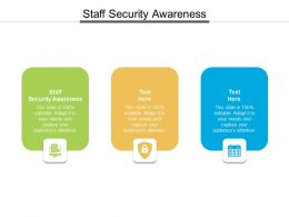 Staff Security Awareness Ppt Powerpoint Presentation Ideas Slide Cpb