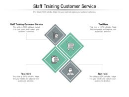 Staff Training Customer Service Ppt Powerpoint Presentation Styles Icon Cpb