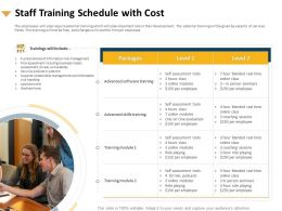 Staff Training Schedule With Cost Assessment Tools Ppt Powerpoint Presentation Good