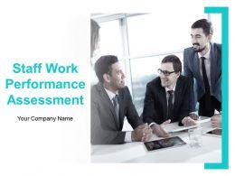 Staff Work Performance Assessment Powerpoint Presentation Slides