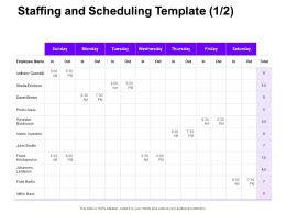 Staffing And Scheduling Employee Ppt Powerpoint Presentation Show Objects