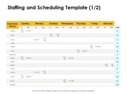 Staffing And Scheduling Marketing Ppt Powerpoint Presentation Infographics