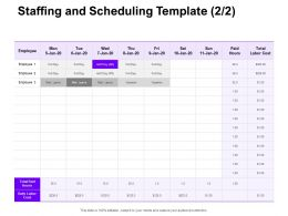 Staffing And Scheduling Template Ppt Powerpoint Presentation Styles Inspiration