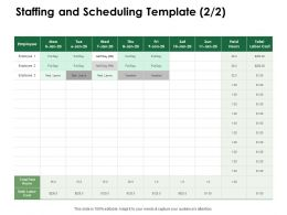 Staffing And Scheduling Template Total Paid Ppt Powerpoint Presentation Summary Themes