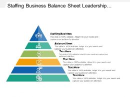 Staffing Business Balance Sheet Leadership Management Organizational Change
