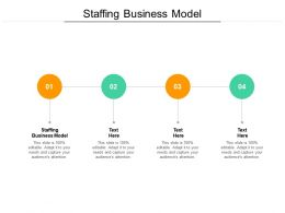 Staffing Business Model Ppt Powerpoint Presentation Model Icons Cpb