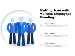 Staffing Icon With Multiple Employees Standing