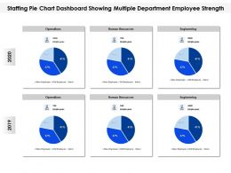 Staffing Pie Chart Dashboard Showing Multiple Department Employee Strength