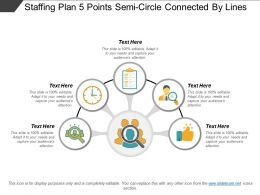 Staffing Plan 5 Points Semicircle Connected By Lines
