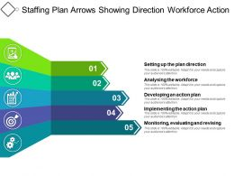 Staffing Plan Arrows Showing Direction Workforce Action