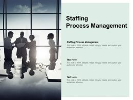 Staffing Process Management Ppt Powerpoint Presentation Icon Shapes Cpb