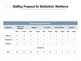 Staffing Proposal For Multiethnic Workforce
