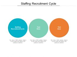 Staffing Recruitment Cycle Ppt Powerpoint Presentation Pictures Diagrams Cpb