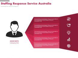 Staffing Response Service Australia Ppt Slides