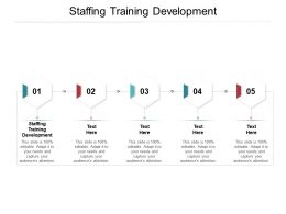 Staffing Training Development Ppt Powerpoint Presentation Inspiration Model Cpb