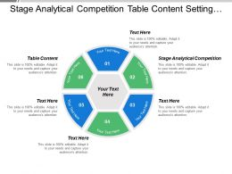 Stage Analytical Competition Table Content Setting Performance Standard