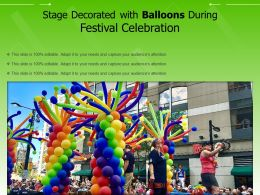 Stage Decorated With Balloons During Festival Celebration