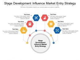 Stage Development Influence Market Entry Strategy Ppt Powerpoint Presentation Outline Template Cpb