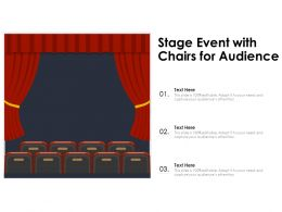 Stage Event With Chairs For Audience