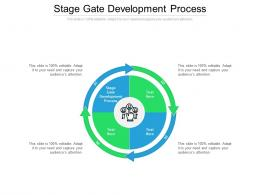 Stage Gate Development Process Ppt Powerpoint Presentation Ideas Examples Cpb