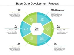 Stage Gate Development Process Ppt Powerpoint Presentation Infographics Smartart Cpb