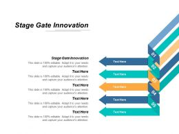 Stage Gate Innovation Ppt Powerpoint Presentation Icon Templates Cpb