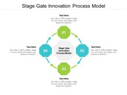 Stage Gate Innovation Process Model Ppt Powerpoint Presentation Portfolio Structure Cpb