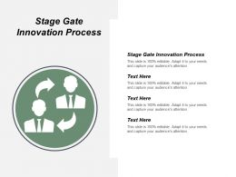 Stage Gate Innovation Process Ppt Powerpoint Presentation Infographic Template Slides Cpb