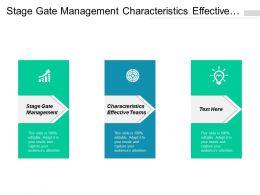 Stage Gate Management Characteristics Effective Teams Prioritization Matrix Cpb