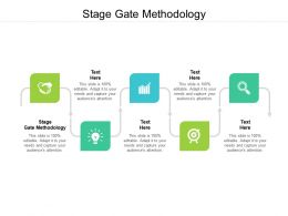 Stage Gate Methodology Ppt Powerpoint Presentation Icon Guidelines Cpb