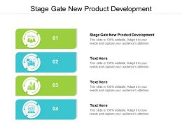 Stage Gate New Product Development Ppt Powerpoint Presentation Summary Maker Cpb