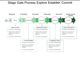 Stage Gate Process Explore Establish Commit