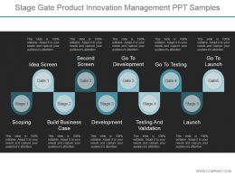 Stage Gate Product Innovation Management Ppt Samples